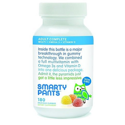 SmartyPants Adult Gummy Multivitamins Plus Omega 3's Plus Vitamin D