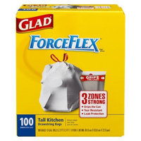 Glad ForceFlex Tall Kitchen Drawstring Trash Bags 13 gal 100 ct