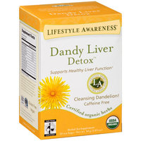 Tadin Lifestyle Awareness Dandy Liver Detox Herbal Tea Supplement Tea Bags, 20 count, 1.05 oz