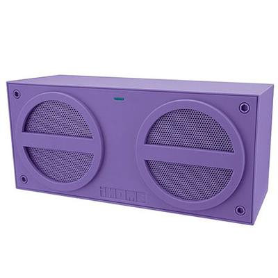 iHome iBT24UC Bluetooth Rechargeable Stereo Mini Speaker - Purple
