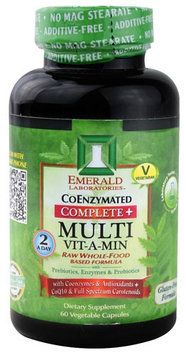 Emerald Labs CoEnzymated Complete plus Multi Vit-A-Min - 60 Vegetable Capsules