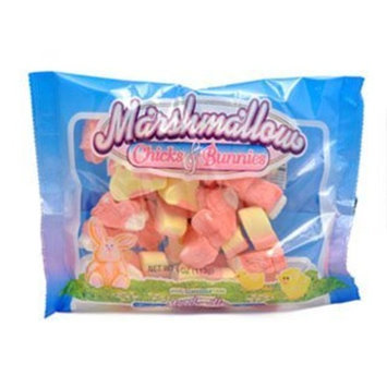 Frankford Candy Frankford Marshmallow Chicks & Bunnies, 4 Oz