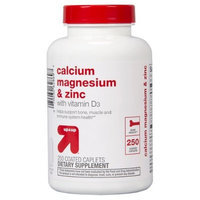 Calcium Magnesium & Zinc Coated Caplets - 250 Count - up & up™
