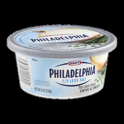 Kraft 1/3 Less Fat Philadelphia Cream Cheese Chive & Onion