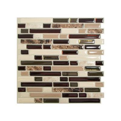 Smart Tiles Vinyl: 10.13 in. x 10 in. Peel and Stick Bellagio Mosaik (6-Pack) SM1034-6