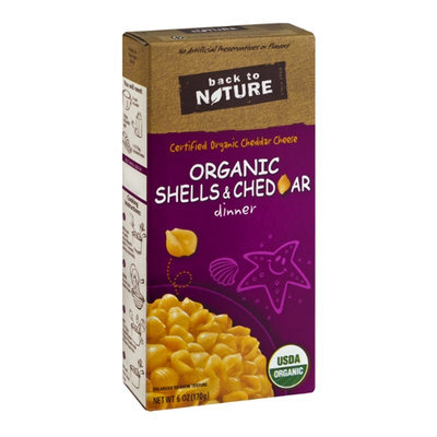 Back to Nature Shells & Cheddar Organic Dinner