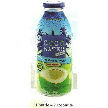 Coco Water Pineapple- Pure Coconut Water + Vitamin C, All Natural, 16 Ounce