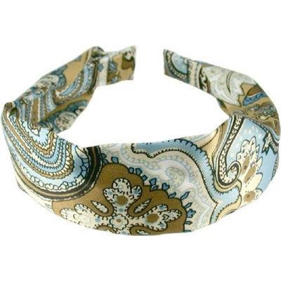 Smoothies Scarf C Headband -Tan/Blue Paisley 01071