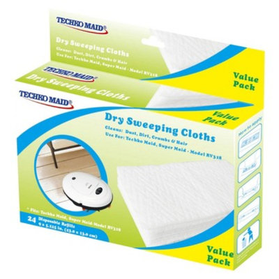 Techko Maid 2pk Dry Disposable Sweeping Cloths 24pc