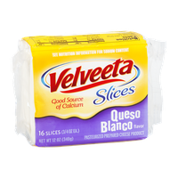 Velveeta Cheese Slices Queso Blanco - 16 CT