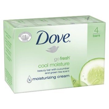 Dove Beauty Dove Cool Moisture Bar Soap - 4 Bars