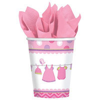 Amscan 581489 9 oz. Shower With Love Girl Cups - Pack of 96