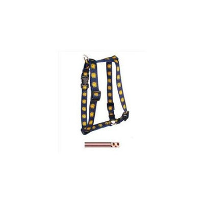 Yellow Dog Design H-PBA101SM Pink and Brown Argyle with Stripes Roman Harness - Small/Medium
