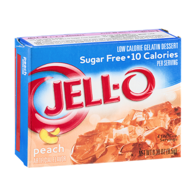 Jell-O Low Calorie Gelatin Dessert Peach Sugar Free