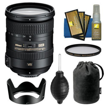 Nikon 18-200mm f/3.5-5.6G VR II DX ED AF-S Nikkor-Zoom Lens with HB-35 Hood & Pouch Case + Filter Kit for D3200, D3300, D5200, D5300, D7000, D7100 DSLR Cameras