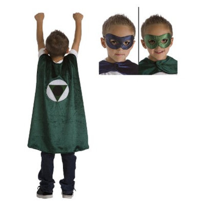 Little Adventures Green Hero Cape with Reversible Navy/Green Mask