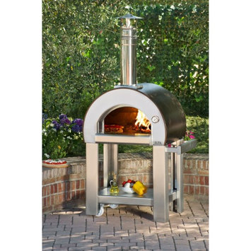 Alfa Pizza Forninox Brick Hearth Wood-Fired Outdoor Pizza Oven FORNO 5 - RED