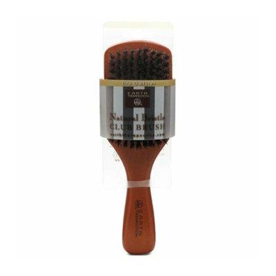 Earth Therapeutics Natural Bristle Club Brush 1 Brush