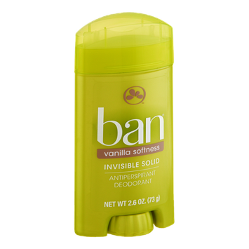 Ban Invisible Solid Vanilla Softness Antiperspirant Deodorant