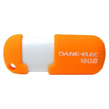 Dane-Elec 16GB USB Flash Drive w/Cloud - Orange/White (DA-Z16GCN5DA-C)