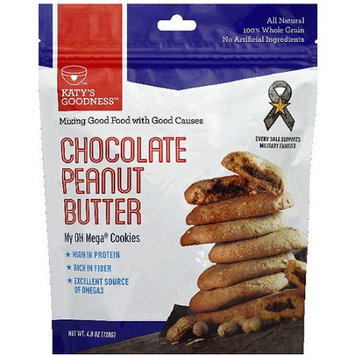 Katy's Goodness My OH Mega Chocolate Peanut Butter Cookies, 4.8 oz (Pack of 6)