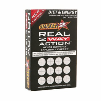 Stacker 2 Real 2 Way Action Diet & Energy, Tablets, 24 ea