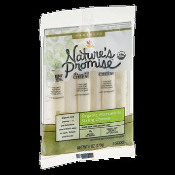 Nature's Promise Organics String Cheese Mozzarella Organic - 6 CT