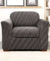 Sure Fit Stretch Space Dye 2-Piece Chair Slipcover Bedding