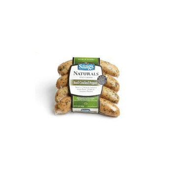 Saag's Naturals Smoked Chicken Basil and Cracked Pepper Sausage 12 Oz. Pkg