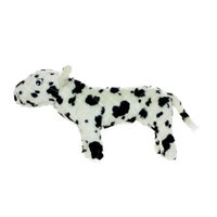 Vip Products Mighty Cassie Cow Farm Dog Toy, White and Black