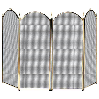 Uniflame 4 Fold Polished Brass Screen (S-2113) - S41010PB