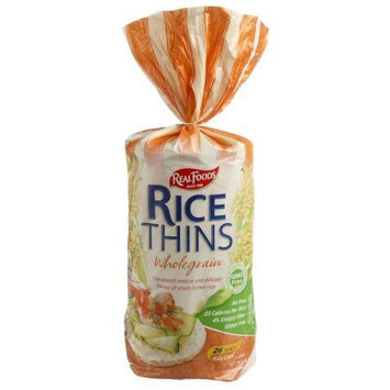 Real Foods Rice Thin-whgr/gf-ff, 5.3-Ounce Units (Pack of 12)