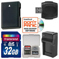 Transcend EN-EL14 Battery & Charger + 32GB SD Card Essential Bundle for Nikon Df, D3100, D3200, D3300, D5100, D5200, D5300 Digital SLR Camera