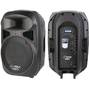 PylePro PYLE PRO PPHP1599AI 2-Way Full-Range Powered Loud Speaker System with Built-In iPod Dock 15in PK 160
