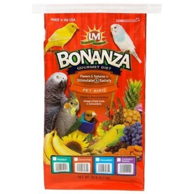 Lm Animal Farms Bonanza Gourmet Parakeet Diet Food Size: 20 lbs