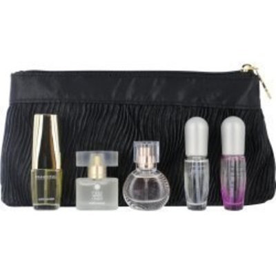 Estée Lauder Variety Gift Set For Women 5 Piece Mini Variety With Beautiful & Pleasures & Pleasures Intense & Pure White Linen & Sensous & Cosmetic Bag And All Are EDP