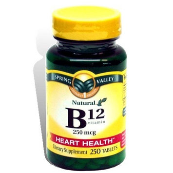 Spring Valley - Vitamin B-12 250 mcg, 250 Tablets