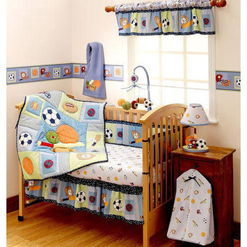 Bedtime Originals by Lambs & Ivy - Super Sports 3pc Crib Bedding Collection Value Bundle