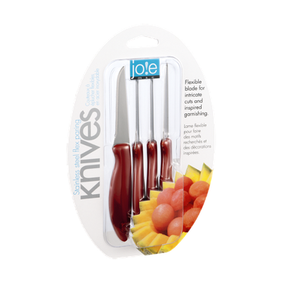 Jo!e Stainless Steel Flex Paring Knives - 4 CT