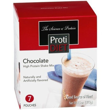 Protidiet Proti Diet Chocolate Shake (7 pouches per box) Net Wt 7.5oz (213g)