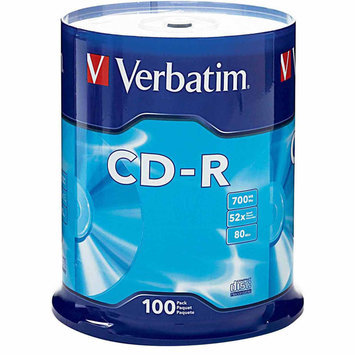Verbatim CD-R 80MIN 700MB 52X Branded 100pk Spindle