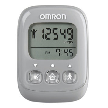 Omron HJ329 Alvita Ultimate Digital Fitness Pedometer, Gray, 1 ea
