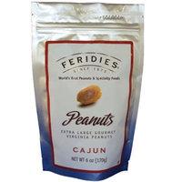 FERIDIES Virginia Peanuts, Cajun, 6-Ounce Bags (Pack of 4)