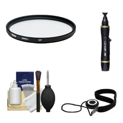 Vivitar 95mm UV Glass Filter + LensPen + CapKeeper + Lens Cleaning Kit for Canon, Nikon, Sony, Olympus & Pentax Lenses