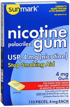 Sunmark Nicotine Polacrilex Gum, 4 mg, Original Flavor 110 each by Sunmark
