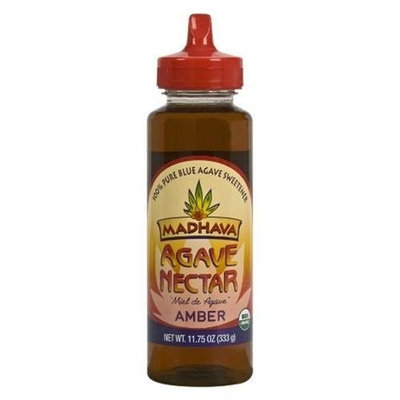 Madhava Organic Agave Nectar - Amber(Blue Agave Sweetener), 11.75-Ounce Bottles (Pack of 12)