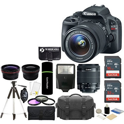 Canon EOS Rebel SL1 Digital SLR Camera with EF-S 18-55mm f/3.5-5.6 IS STM Lens + 8GB Kit