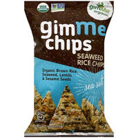 Gimme Clips GimMe Organic Gimme Chips Sea Salt Seaweed Rice Chips, 4 oz, (Pack of 12)