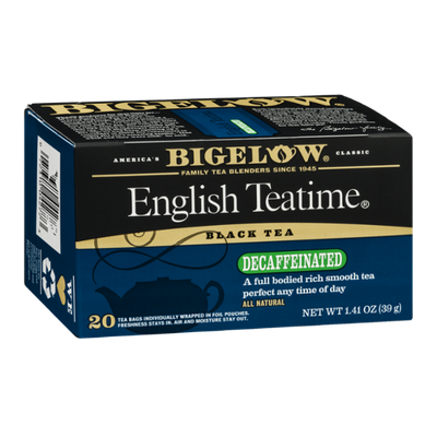 Bigelow Black Tea Decaffeinated English Teatime - 20 CT