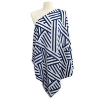 Itzy Ritzy Nursing Happens Infinity Breastfeeding Scarf - City Chevron Navy